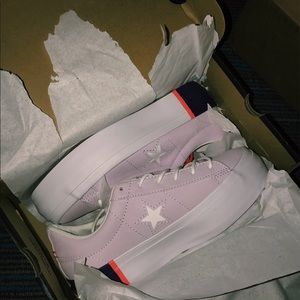 Purple platform converse. Cute and unique